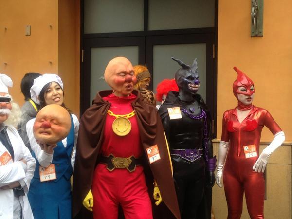 川崎ハロウィンで準優勝したリアルアンパンマンの仮装