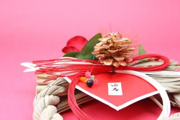 正月飾り しめ縄の画像